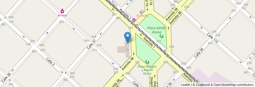 Mapa de ubicacion de Escuela Primaria Básica N° 5 - Coronel de Marina Tomás Espora, Casco Urbano en La Plata, Partido De La Plata, Buenos Aires, Argentina.