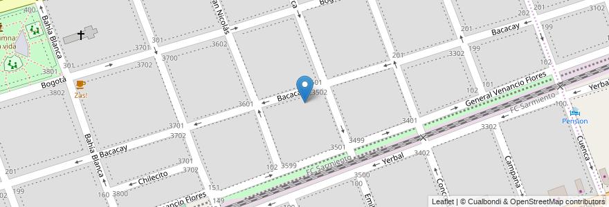 Mapa de ubicacion de Escuela Primaria Común 09 Lic. Don Mauro Fernández, Floresta en Argentina, Ciudad Autónoma De Buenos Aires, Buenos Aires, Comuna 10.