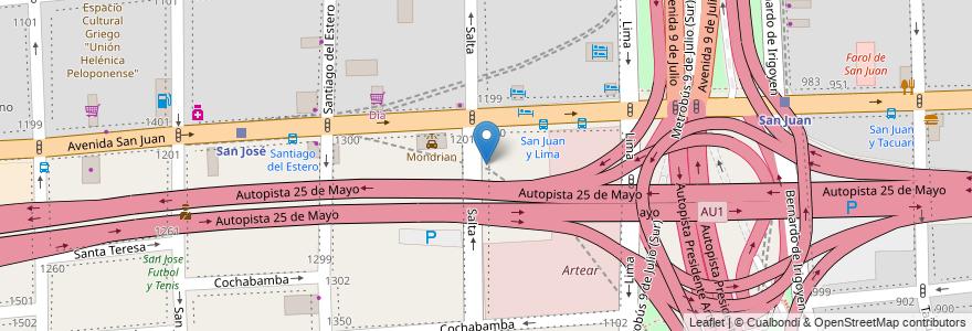 Mapa de ubicacion de Escuela Primaria Común 16 Eustaquio Cardenas, Constitucion en Argentina, Ciudad Autónoma De Buenos Aires, Comuna 1, Buenos Aires.