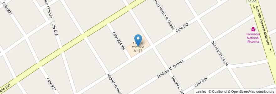 Mapa de ubicacion de Escuela Primaria N* 51 en Argentina, Buenos Aires, Partido De Quilmes, Villa La Florida.
