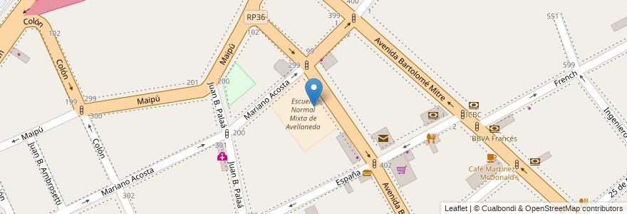 Mapa de ubicacion de Escuela Primaria N* 68 en Argentina, Buenos Aires, Partido De Avellaneda, Avellaneda.