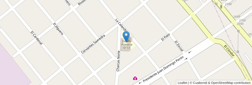 Mapa de ubicacion de Escuela Primaria Nº 51 en Argentina, Buenos Aires, Partido De Almirante Brown, San Francisco Solano.