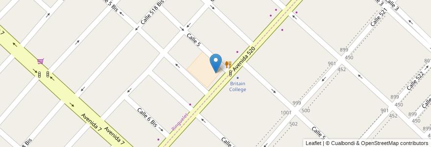 Mapa de ubicacion de Escuela Primaria nº 89 Juan Zorrilla de San Martiín, Ringuelet en Argentina, Buenos Aires, Partido De La Plata, Ringuelet.