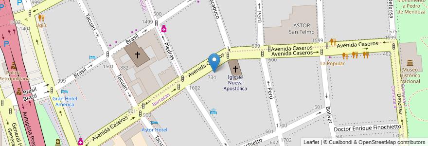 Mapa de ubicacion de Escuela Primaria p/Adultos 07 Juan de Garay, Barracas en Argentina, Ciudad Autónoma De Buenos Aires, Comuna 1, Comuna 4, Buenos Aires.