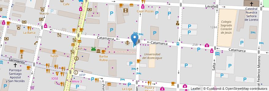 Mapa de ubicacion de Estacionamiento en Argentina, Chile, Mendoza, Departamento Capital, Ciudad De Mendoza, Sección 3ª Parque O'Higgins.