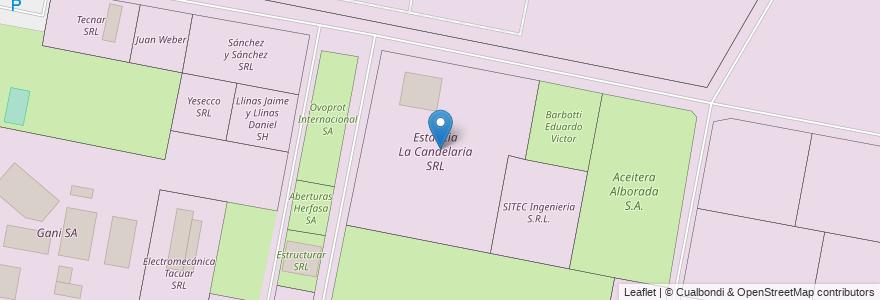 Mapa de ubicacion de Estancia La Candelaria SRL en Municipio De Sauce Viejo, Departamento La Capital, Santa Fe, Argentina.