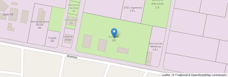 Mapa de ubicacion de Estrutec SRL en Argentina, Santa Fe, Departamento La Capital, Municipio De Sauce Viejo.