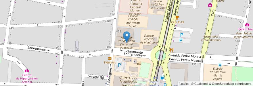 Mapa de ubicacion de Facultad de Educación Elemental y Especial en Argentina, Mendoza, Departamento Capital, Ciudad De Mendoza, Sección 5ª Residencial Sur.