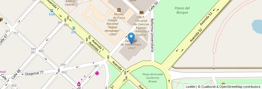 Mapa de ubicacion de Facultad de Odontología - UNLP, Casco Urbano en La Plata, Partido De La Plata, Buenos Aires, Argentina.