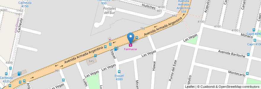 Mapa de ubicacion de Farmacia en Córdoba, Municipio De Córdoba, Pedanía Capital, Departamento Capital, Córdoba, Argentina.