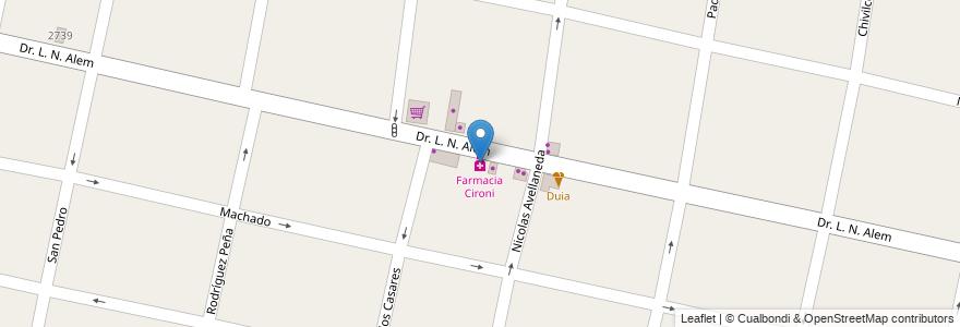 Mapa de ubicacion de Farmacia Cironi en Argentina, Buenos Aires, Partido De Morón, Castelar.