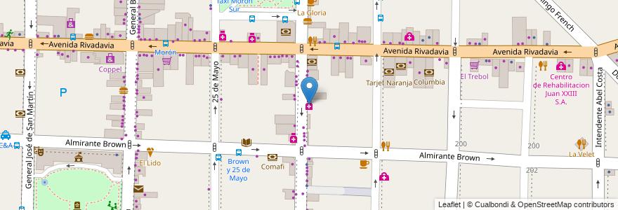 Mapa de ubicacion de Farmacia Comunitaria en Argentina, Buenos Aires, Partido De Morón, Morón.