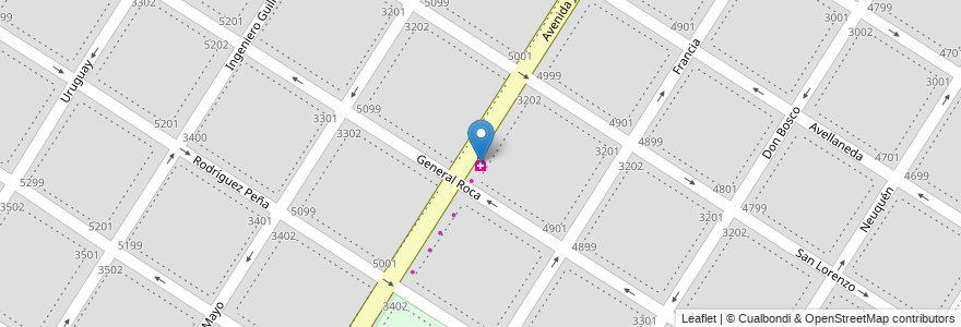 Mapa de ubicacion de Farmacia del barrio en Mar Del Plata, Partido De General Pueyrredón, Buenos Aires, Argentina.
