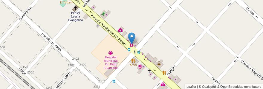 Mapa de ubicacion de Farmacia Durandeu en Argentina, Buenos Aires, Partido De San Miguel, San Miguel.