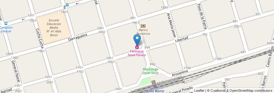 Mapa de ubicacion de Farmacia Nova Faraco en Argentina, Buenos Aires, Partido De La Matanza, Aldo Bonzi.