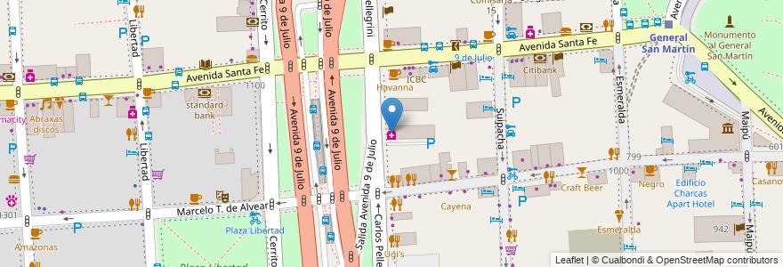 Mapa de ubicacion de Farmacity, Retiro en Argentina, Ciudad Autónoma De Buenos Aires, Buenos Aires, Comuna 1.