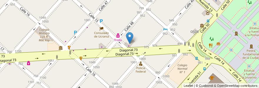 Mapa de ubicacion de Firestone, Casco Urbano en Argentina, Buenos Aires, Partido De La Plata, La Plata.