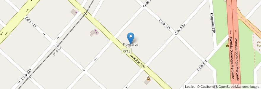 Mapa de ubicacion de Flowserve, Tolosa en Argentina, Buenos Aires, Partido De La Plata.