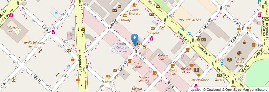 Mapa de ubicacion de Forum Center, Casco Urbano en La Plata, Partido De La Plata, Buenos Aires, Argentina.