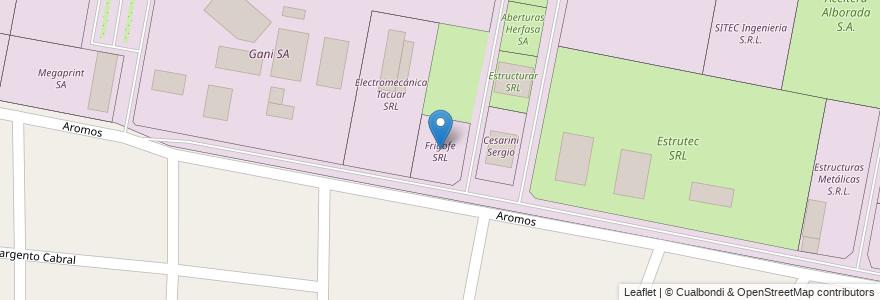 Mapa de ubicacion de Frigofe SRL en Argentina, Santa Fe, Departamento La Capital, Municipio De Sauce Viejo.
