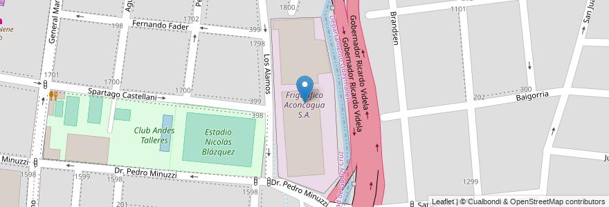 Mapa de ubicacion de Frigorífico Aconcagua S.A. en Argentina, Mendoza, Chile, Godoy Cruz, Departamento Godoy Cruz, Distrito Ciudad De Godoy Cruz.