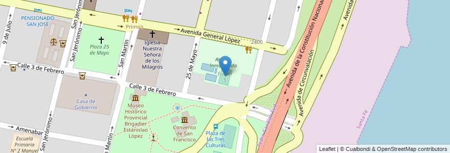 Mapa de ubicacion de Futbol 5 en Argentina, Santa Fe, Departamento La Capital, Santa Fe Capital, Santa Fe.