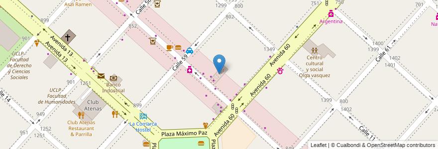 Mapa de ubicacion de Galeria 12, Casco Urbano en La Plata, Partido De La Plata, Buenos Aires, Argentina.