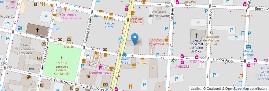 Mapa de ubicacion de Galeria Bamac en Argentina, Chile, Mendoza, Departamento Capital, Ciudad De Mendoza, Sección 3ª Parque O'Higgins.