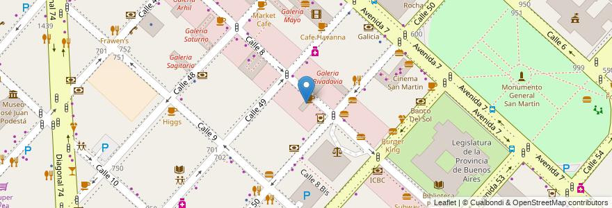 Mapa de ubicacion de Galeria, Casco Urbano en La Plata, Partido De La Plata, Buenos Aires, Argentina.