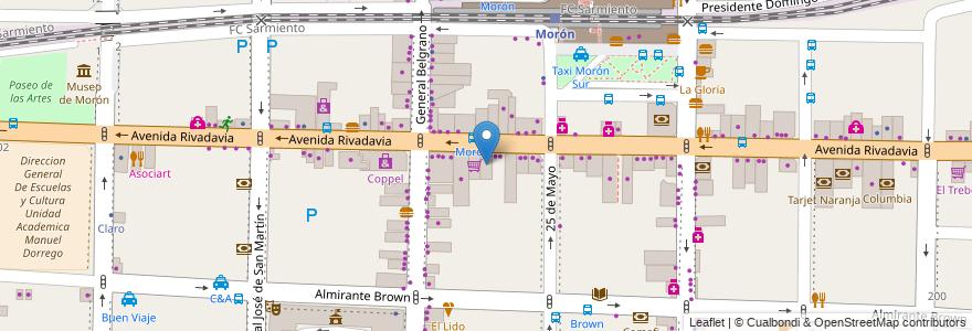 Mapa de ubicacion de Galería el Establo en Morón, Partido De Morón, Buenos Aires, Argentina.