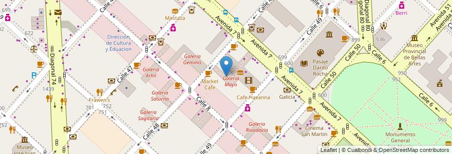 Mapa de ubicacion de Galeria Mayo, Casco Urbano en La Plata, Partido De La Plata, Buenos Aires, Argentina.
