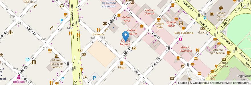 Mapa de ubicacion de Galeria Sagitario, Casco Urbano en La Plata, Partido De La Plata, Buenos Aires, Argentina.