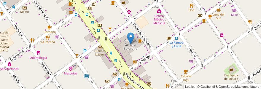 Mapa de ubicacion de Galerias General Belgrano, Belgrano en Argentina, Ciudad Autónoma De Buenos Aires, Comuna 13, Buenos Aires.