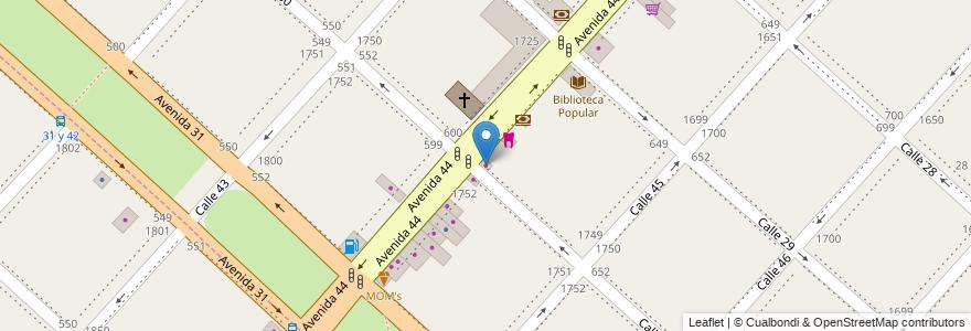 Mapa de ubicacion de Gamaleri Joyas, Casco Urbano en Argentina, Buenos Aires, Partido De La Plata, La Plata.