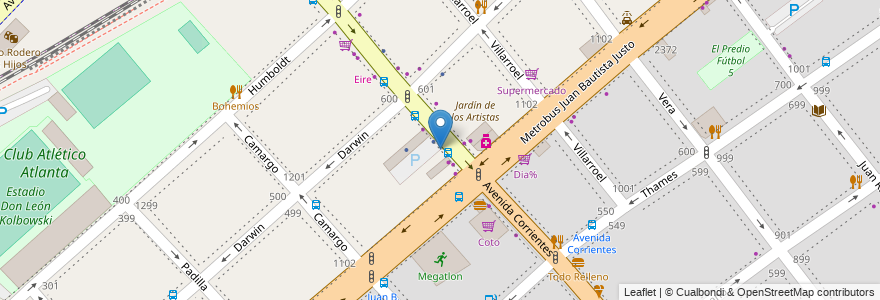 Mapa de ubicacion de Garage El Triunfo, Villa Crespo en Argentina, Ciudad Autónoma De Buenos Aires, Comuna 15, Buenos Aires.