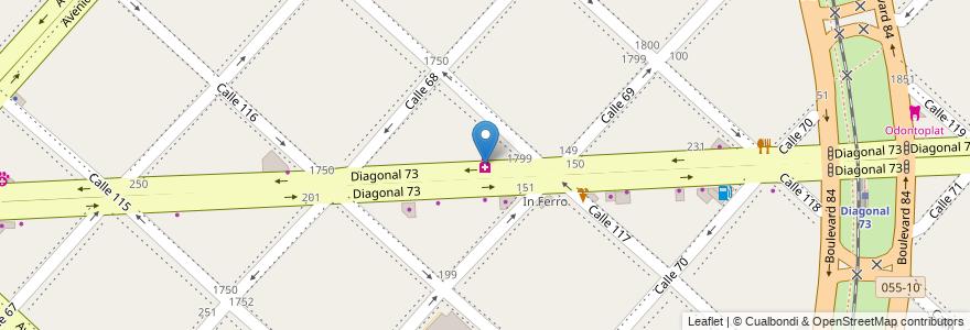 Mapa de ubicacion de Gardinali, Casco Urbano en La Plata, Partido De La Plata, Buenos Aires, Argentina.