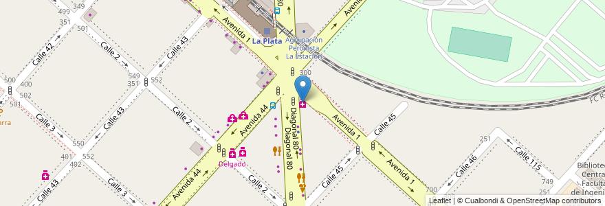Mapa de ubicacion de Gatti S.C.S., Casco Urbano en La Plata, Partido De La Plata, Buenos Aires, Argentina.