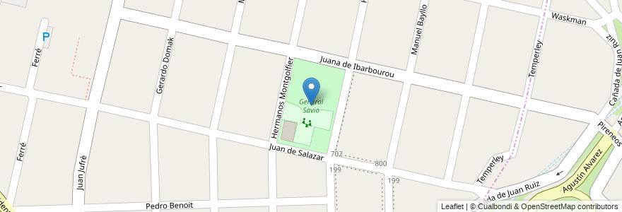 Mapa de ubicacion de General Savio en Argentina, Buenos Aires, Partido De Hurlingham, Villa Tesei.