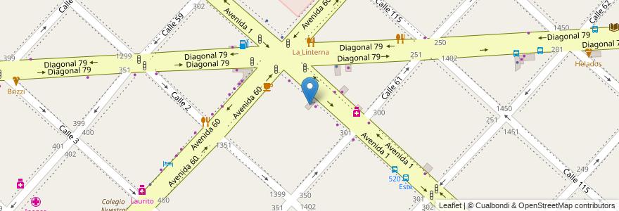 Mapa de ubicacion de Gimnasio Futbol 5, Casco Urbano en La Plata, Partido De La Plata, Buenos Aires, Argentina.