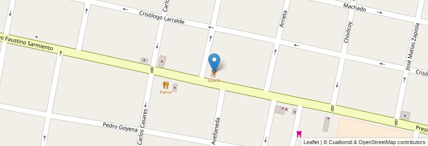 Mapa de ubicacion de Glace en Argentina, Buenos Aires, Partido De Morón, Castelar.