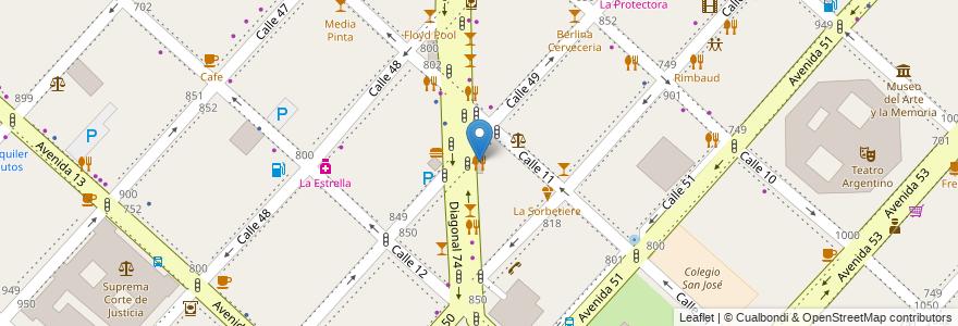 Mapa de ubicacion de Green Garden & Luciano, Casco Urbano en Argentina, Buenos Aires, Partido De La Plata, La Plata.