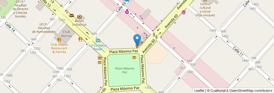 Mapa de ubicacion de Grido, Casco Urbano en Argentina, Buenos Aires, Partido De La Plata, La Plata.