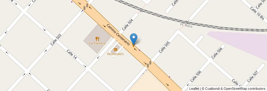 Mapa de ubicacion de Grido, Gonnet en Argentina, Buenos Aires, Partido De La Plata, Manuel B. Gonnet.