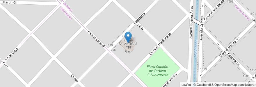 Mapa de ubicacion de GRUPO BRABO SA- ARTIGAS - YPF Gas en Argentina, Buenos Aires, Partido De Bahía Blanca, Bahía Blanca.