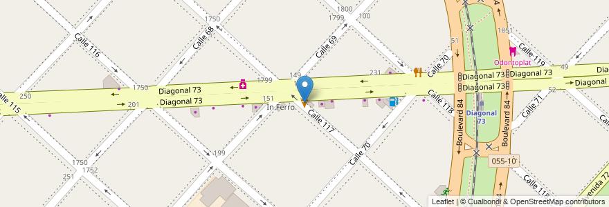 Mapa de ubicacion de Gustito, Casco Urbano en La Plata, Partido De La Plata, Buenos Aires, Argentina.