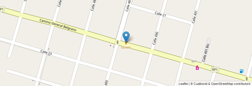 Mapa de ubicacion de Gustito, Gonnet en Argentina, Buenos Aires, Partido De La Plata, Manuel B. Gonnet.