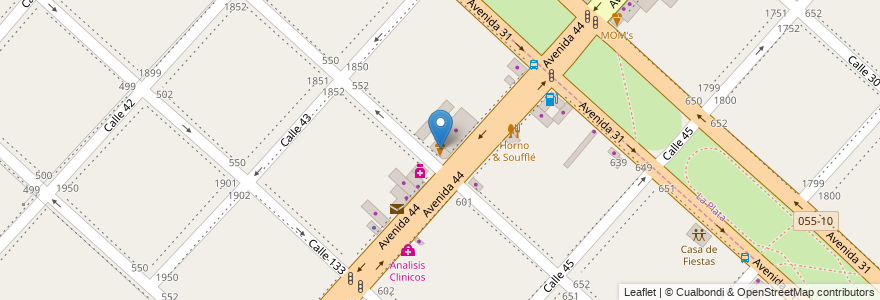 Mapa de ubicacion de Gustito, San Carlos en Partido De La Plata, Buenos Aires, Argentina.
