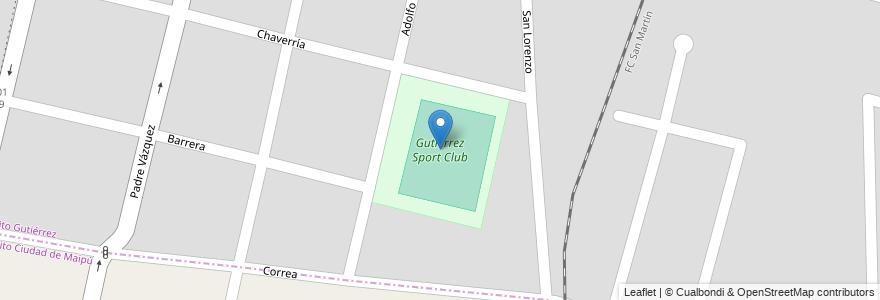 Mapa de ubicacion de Gutiérrez Sport Club en Argentina, Chile, Mendoza, Departamento Maipú, Distrito Gutiérrez, Maipú.