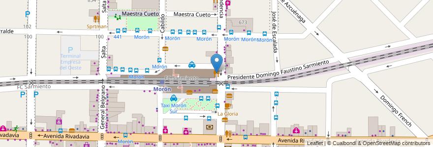 Mapa de ubicacion de Hamburguesus Argentinas en Morón, Partido De Morón, Buenos Aires, Argentina.
