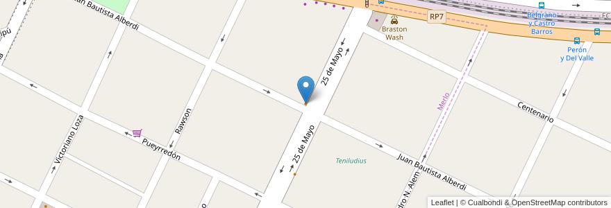 Mapa de ubicacion de Heladeria Rochel en Argentina, Buenos Aires, Partido De Merlo, Merlo.